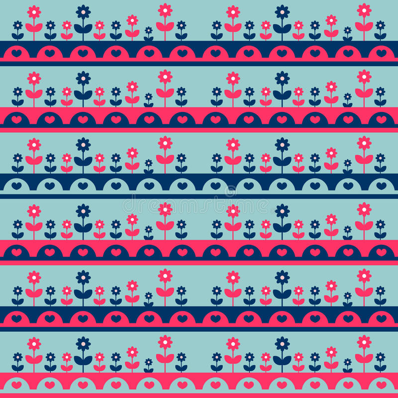 Download Seamless Pattern With Flowers Stock Vector - Image: 27665611