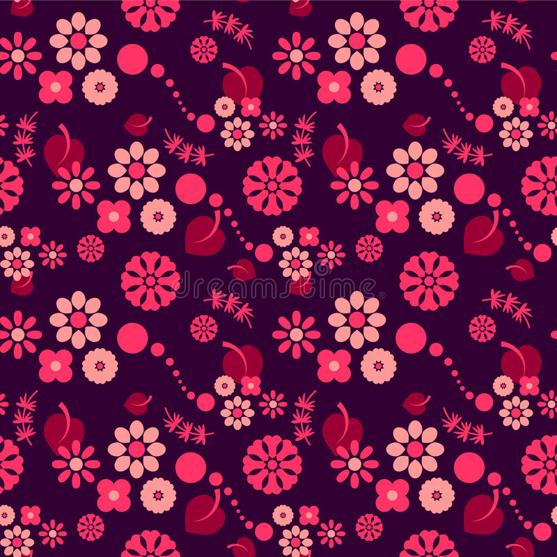 Download Seamless Pattern With Flowers Stock Vector - Image: 28537866