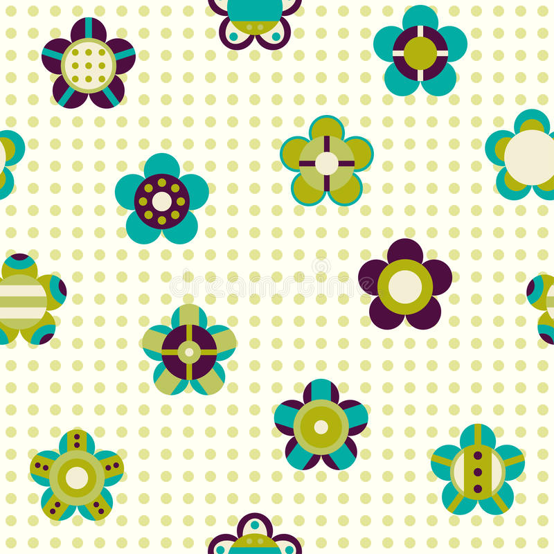 Seamless pattern with flowers on a background