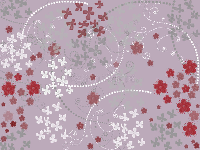 Seamless pattern with flowers. Seamless floral pattern on pink background royalty free illustration