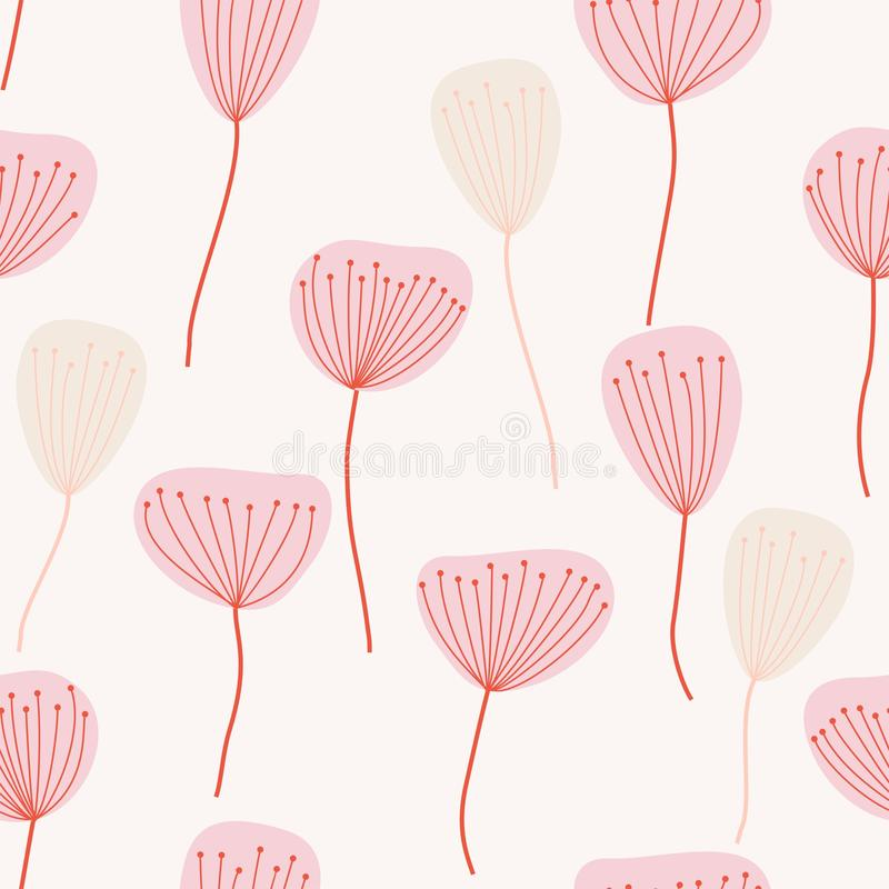 Seamless pattern. Flowers royalty free illustration