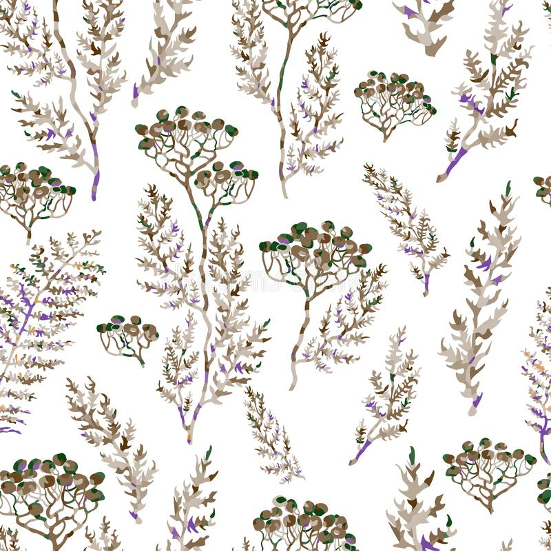 Seamless pattern with flowers royalty free illustration