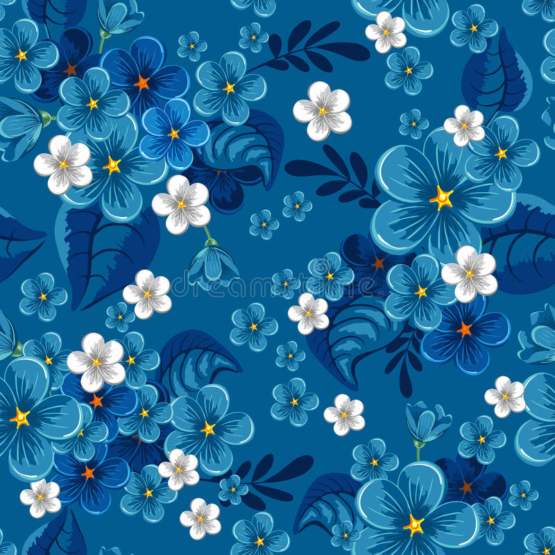 Download Seamless Pattern With Forget-me-not Royalty Free Stock Image - Image: 18653556