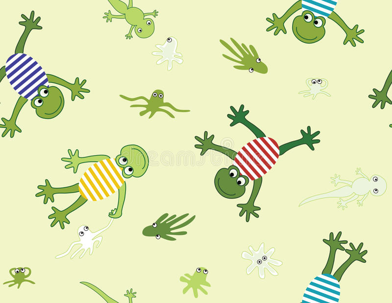 Seamless pattern with frogs stock photography