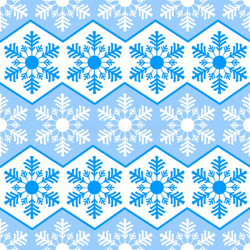Free Seamless Pattern From Snowflakes.Winter Background. Christmas Template Royalty Free Stock Images - 61674639