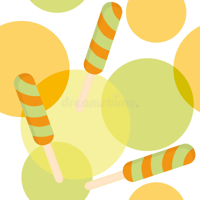 Seamless pattern with fruit ice-cream vector illustration