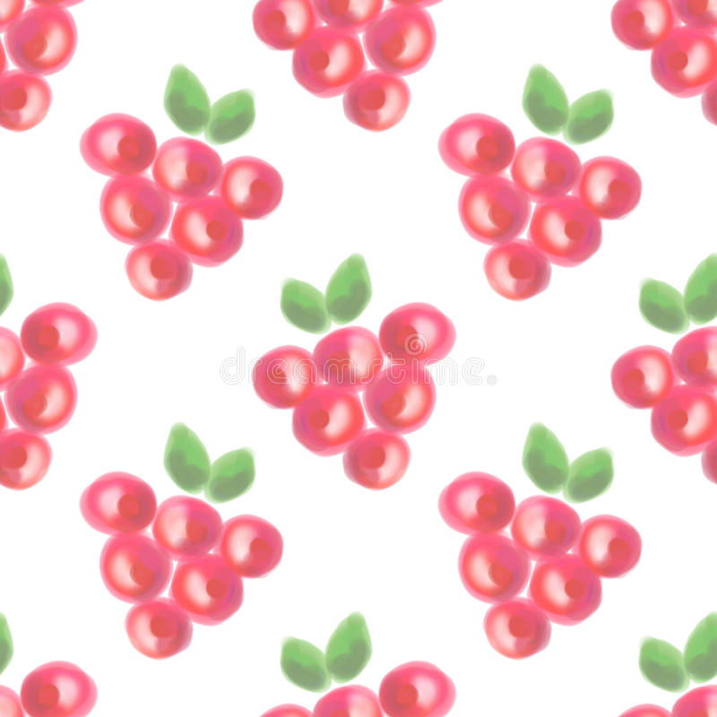 Seamless pattern with fruits. Watercolor background with hand drawn berries. Series of Watercolor Seamless Patterns, Backgrounds royalty free stock photography