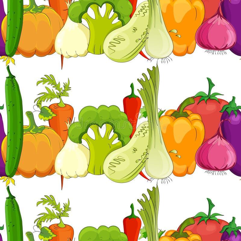 Seamless pattern. funny vegetable stock illustration