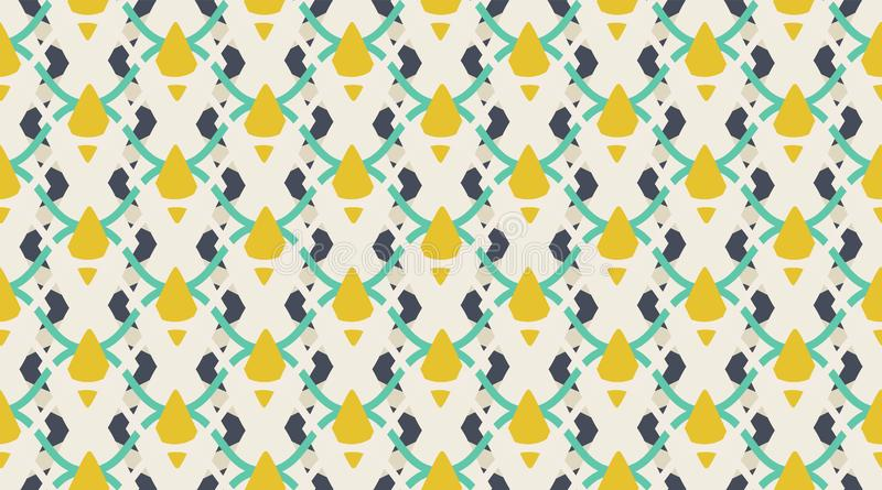 Seamless pattern geometric. Delicate beautiful ornament. Geometric fashion fabric print. nSeamless vector pattern. royalty free stock image
