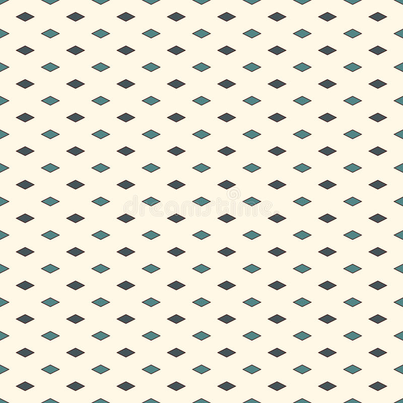 Seamless pattern with geometric figures. Repeated diamond ornamental abstract background. Rhombuses motif. stock illustration