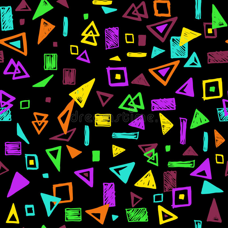 Seamless pattern with geometric shapes royalty free illustration