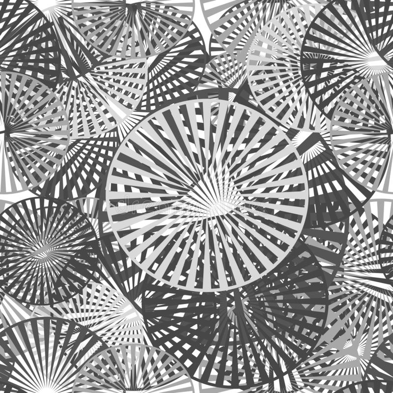 Seamless pattern of geometric shapes. royalty free illustration