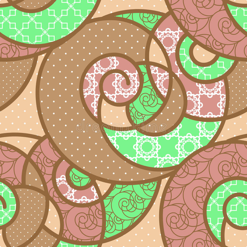 Seamless pattern geometric stylish background retro colors texture. Seamless pattern geometric stylish background retro beige green colors texture vector illustration