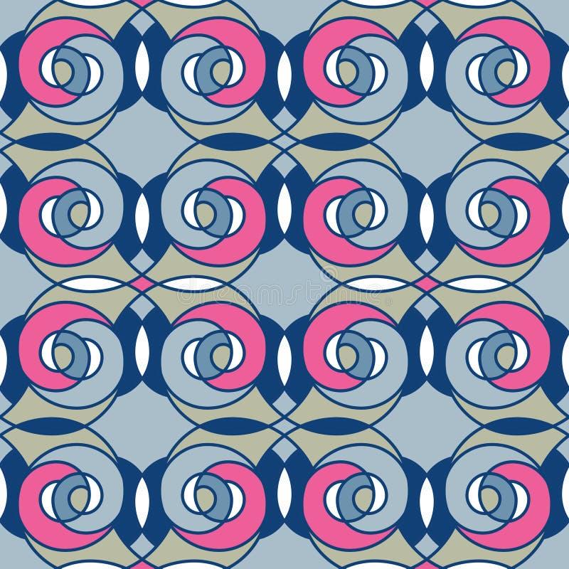 Seamless pattern geometric stylish background retro texture. Seamless pattern geometric stylish background retro colors texture royalty free illustration