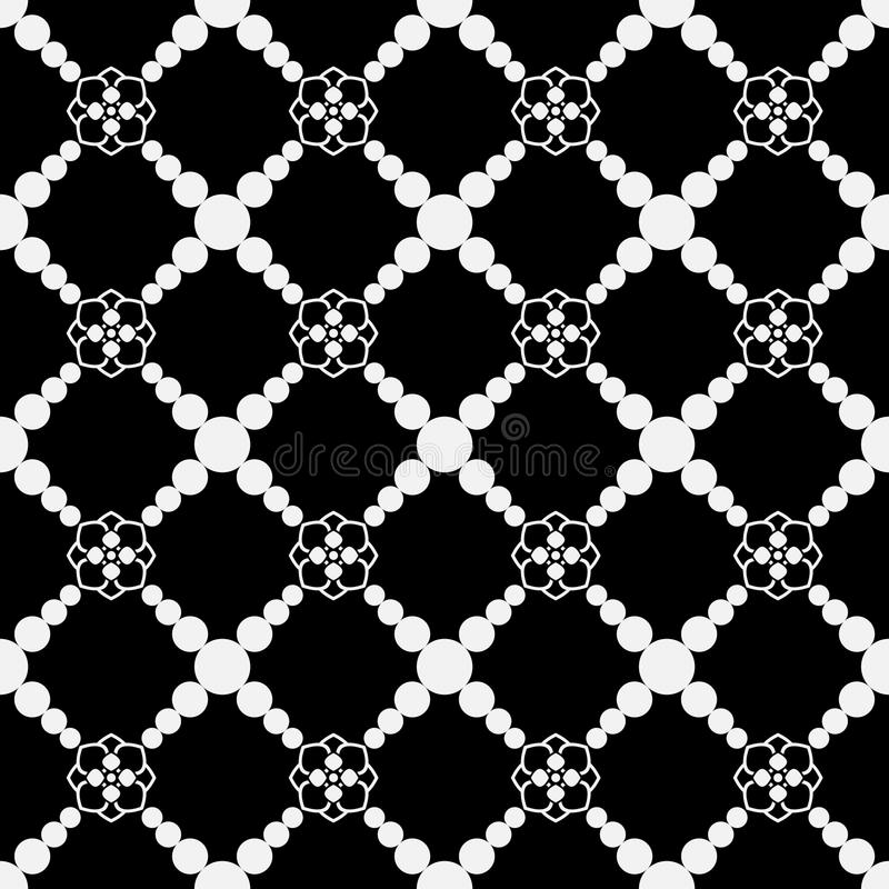 Seamless pattern, geometric texture with circles, design element for prints, decoration. Seamless pattern, geometric texture with circles, design element for stock illustration