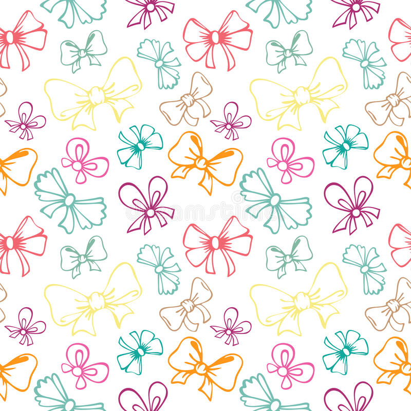 Download Seamless Pattern With Gift Bow Stock Illustration - Image: 32415466