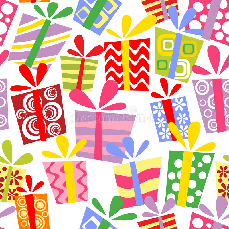 Download Seamless Pattern With Gift Boxes Stock Illustration - Image: 15973800
