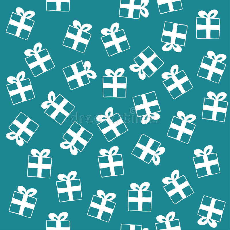Seamless pattern of gift boxes. Endless texture can be used for printing onto fabric, paper or scrap booking, wallpaper, pattern fills, web page background vector illustration
