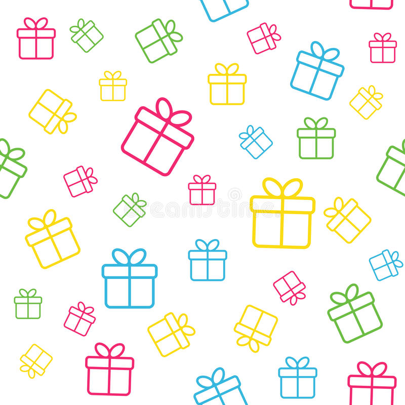 Seamless pattern with gift boxes. Vector background for fabric print, wrapping paper design vector illustration