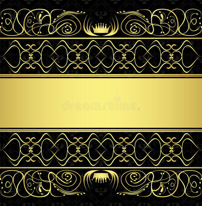 Seamless pattern and gold ornaments