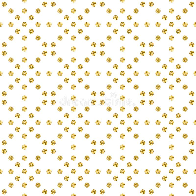 Seamless pattern with golden glittering circles. Gold pattern. Repeatable design. Can be used for fabric, scrap booking, wallpaper. Web background, invitation vector illustration