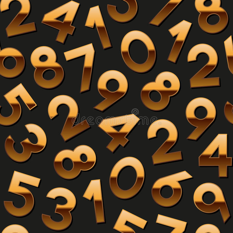 Download Seamless Pattern With Golden Numbers Stock Vector - Image: 43508658