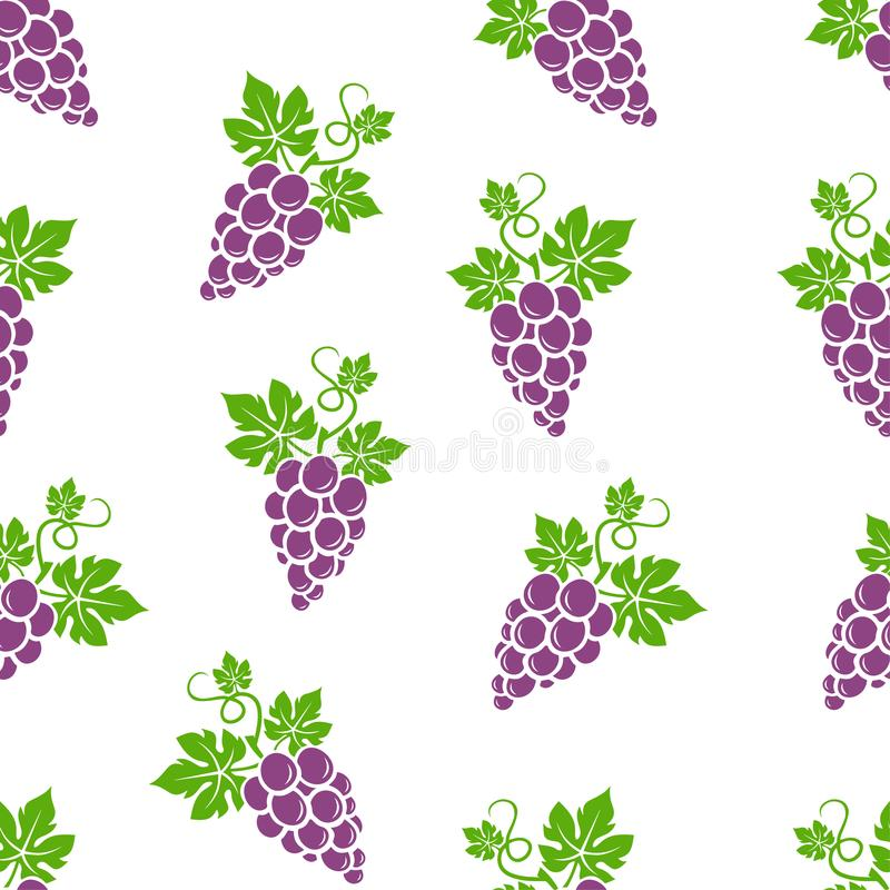 Seamless pattern of grapes. Illustration. Food wallpapers from fruit royalty free illustration