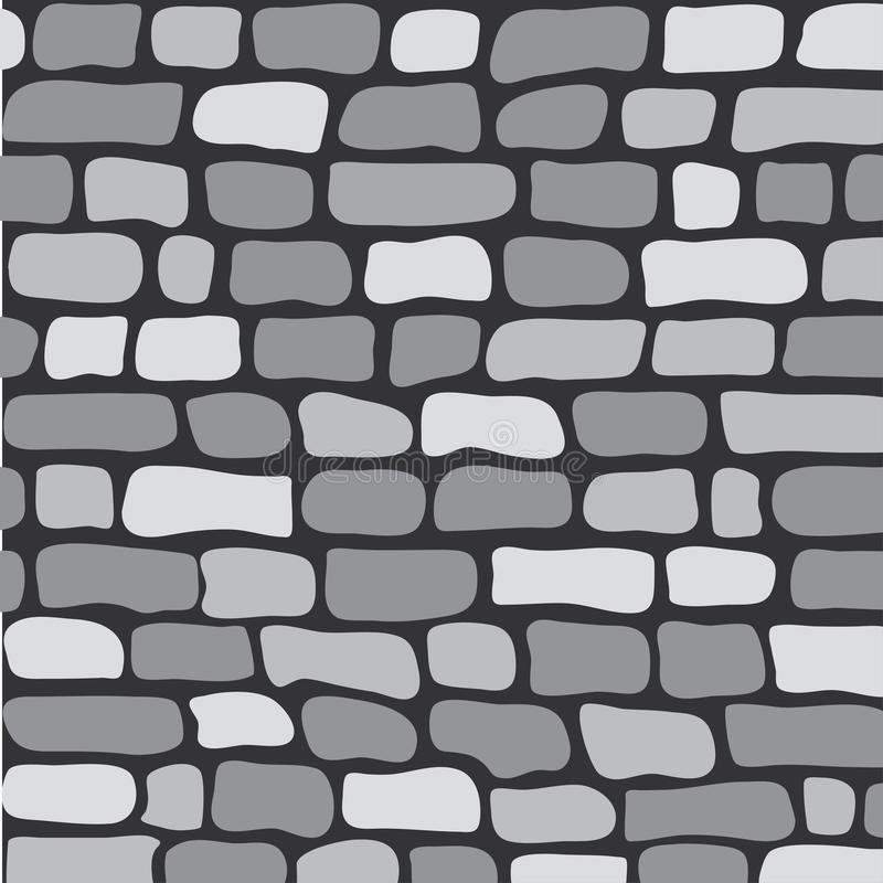 Seamless pattern gray brick wall, vector. Illustration vector illustration