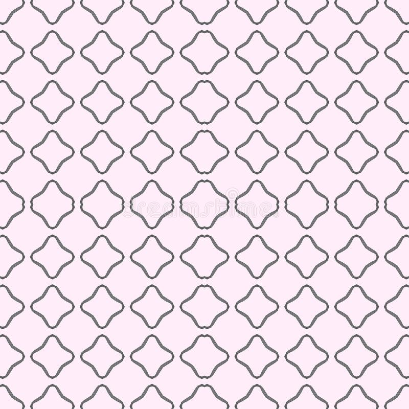 A seamless pattern in gray and pink. With squares. In watercolor. vector illustration