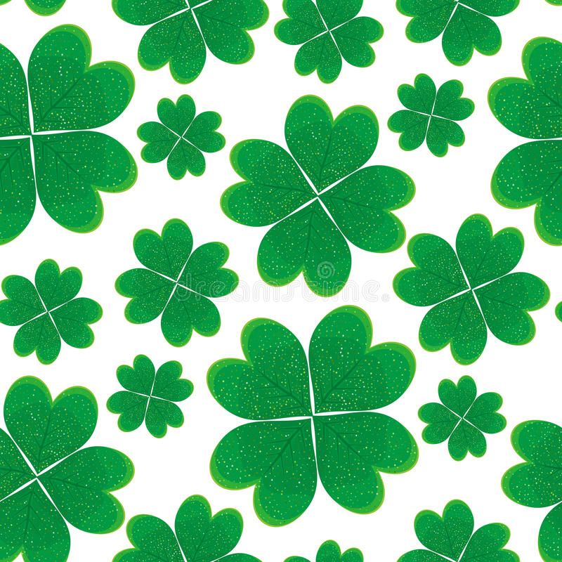 Seamless pattern with green clover leaves. Seamless pattern with the green clover leaves vector illustration