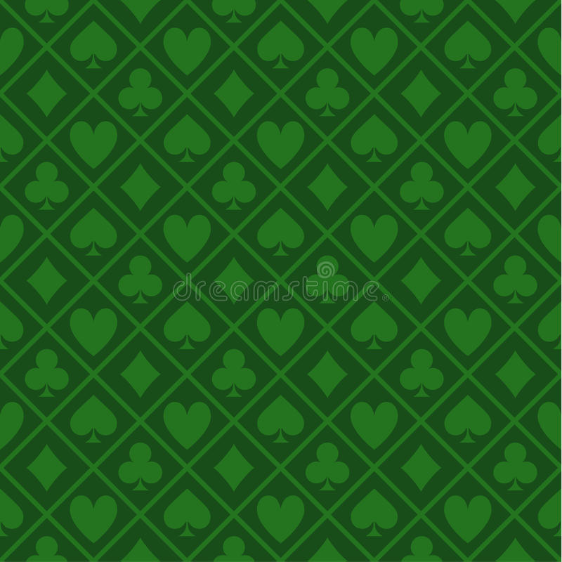 Download Seamless Pattern Of Green Fabric Poker Table Stock Vector