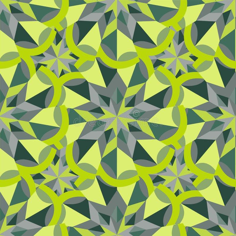 Seamless pattern. Green flower. A three-dimensional visual illus vector illustration