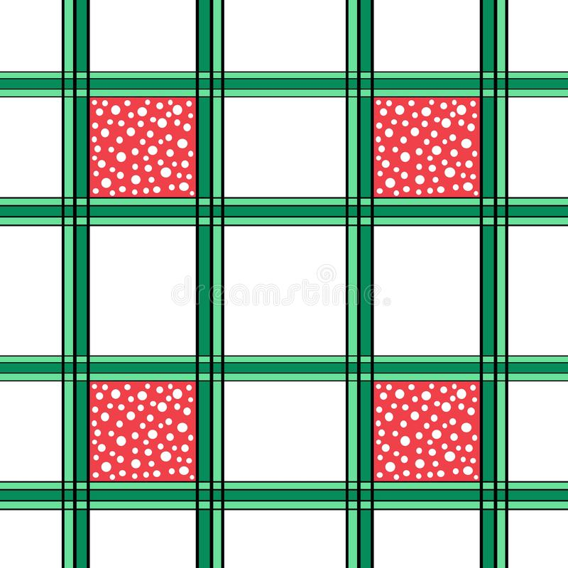 Seamless Grid Pattern With White Dots royalty free stock photo