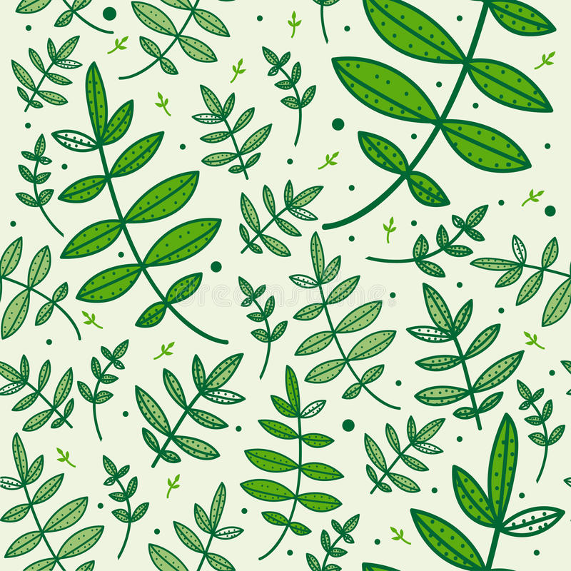 Download Seamless Pattern With Green Leaves Stock Vector - Image: 24395431