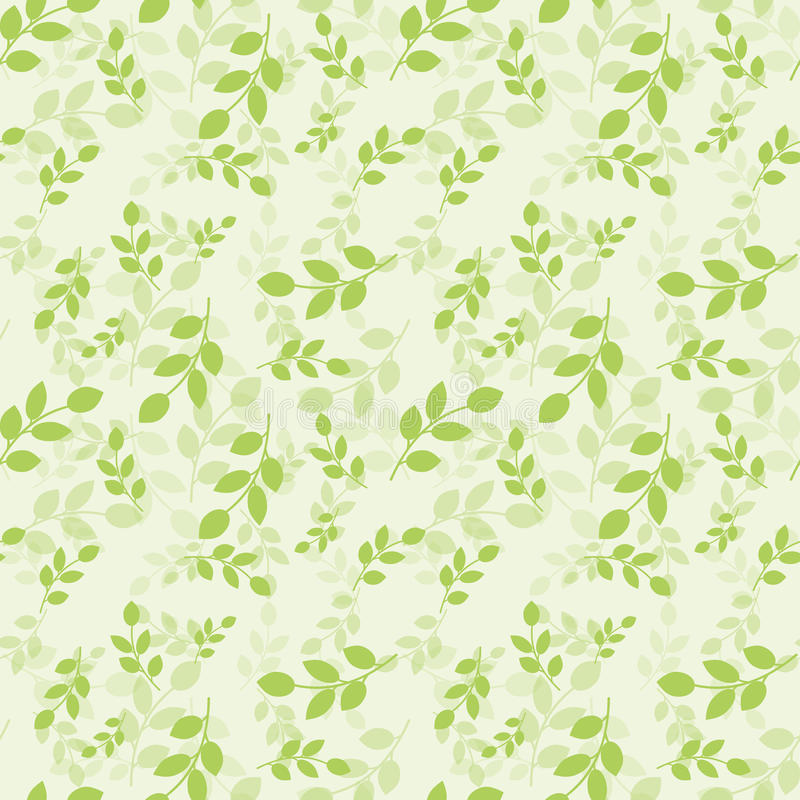 Seamless Pattern With Green Leaves Vector Illustration Natural Style Background For Dress Manufacturing Wallpapers Prints Gift Wrap And Scrapbook