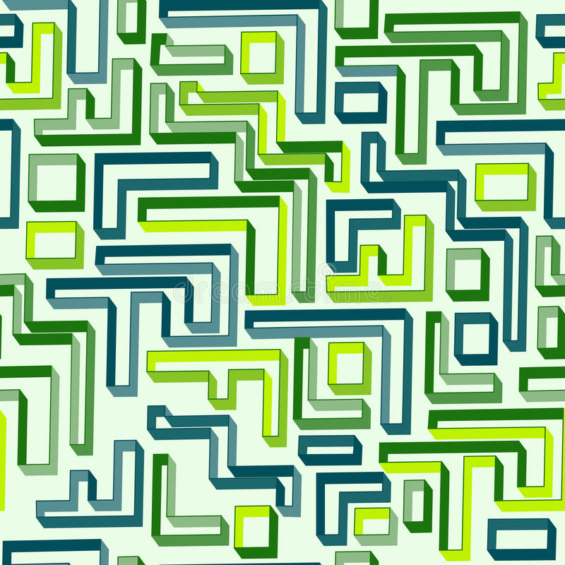 Download Seamless Pattern Of Green Maze Stock Vector - Illustration: 32463005