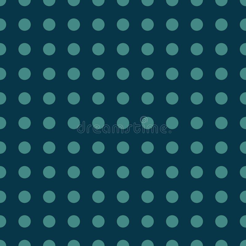 Seamless pattern with green polka dots on Blue color background For desktop wallpaper, web design, cards, invitations, wedding or royalty free illustration