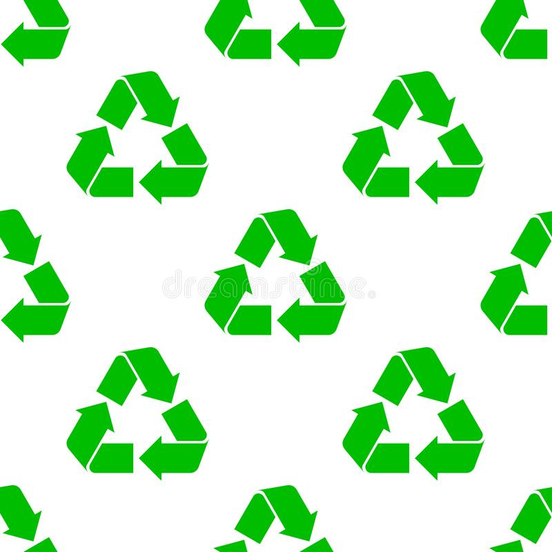 Seamless recycling pattern vector illustration
