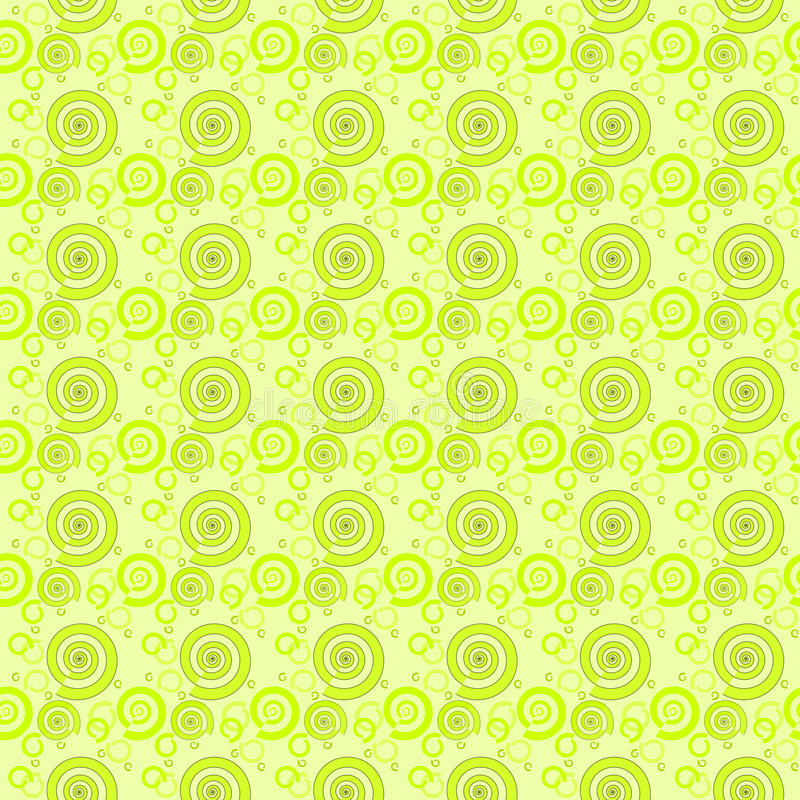 Seamless pattern green spirals royalty free stock image