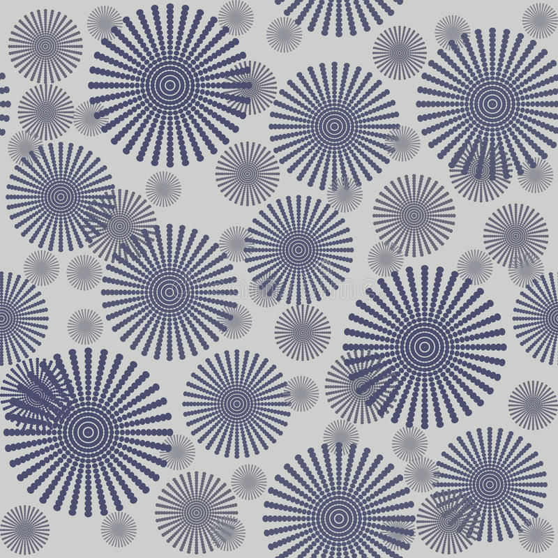 Download Seamless Pattern With Grey Flowers Stock Illustration - Illustration: 16044006