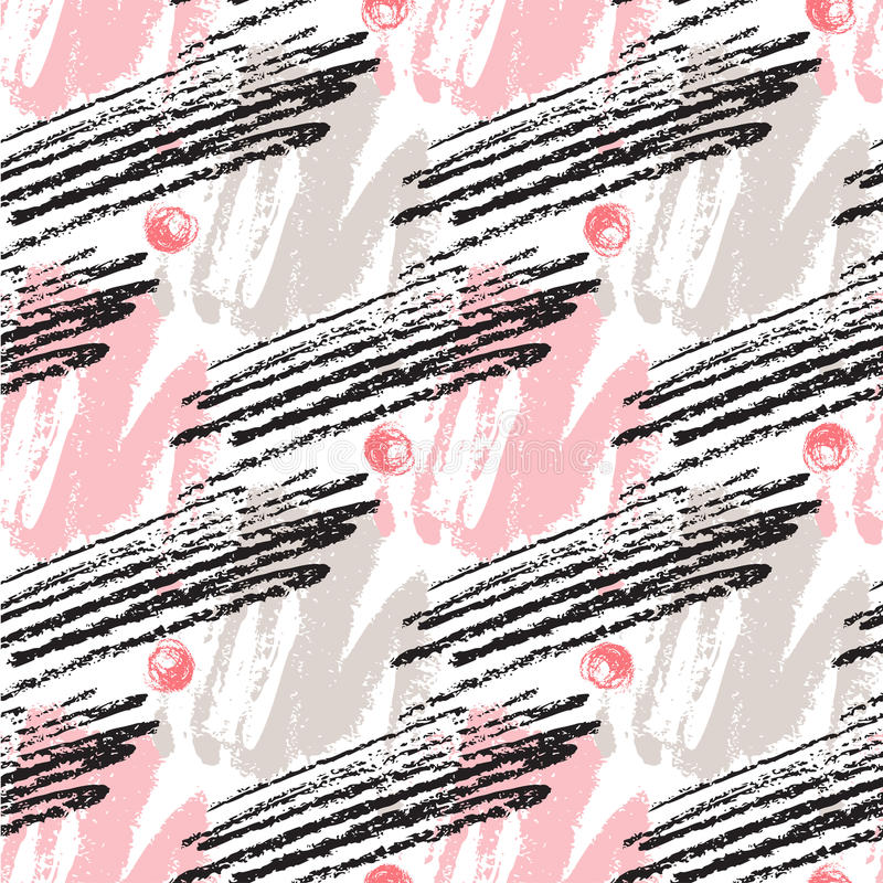 Seamless pattern with grunge textures. Hand drawn fashion hipster background. Vector for print, fabric, textile, invitation card, vector illustration