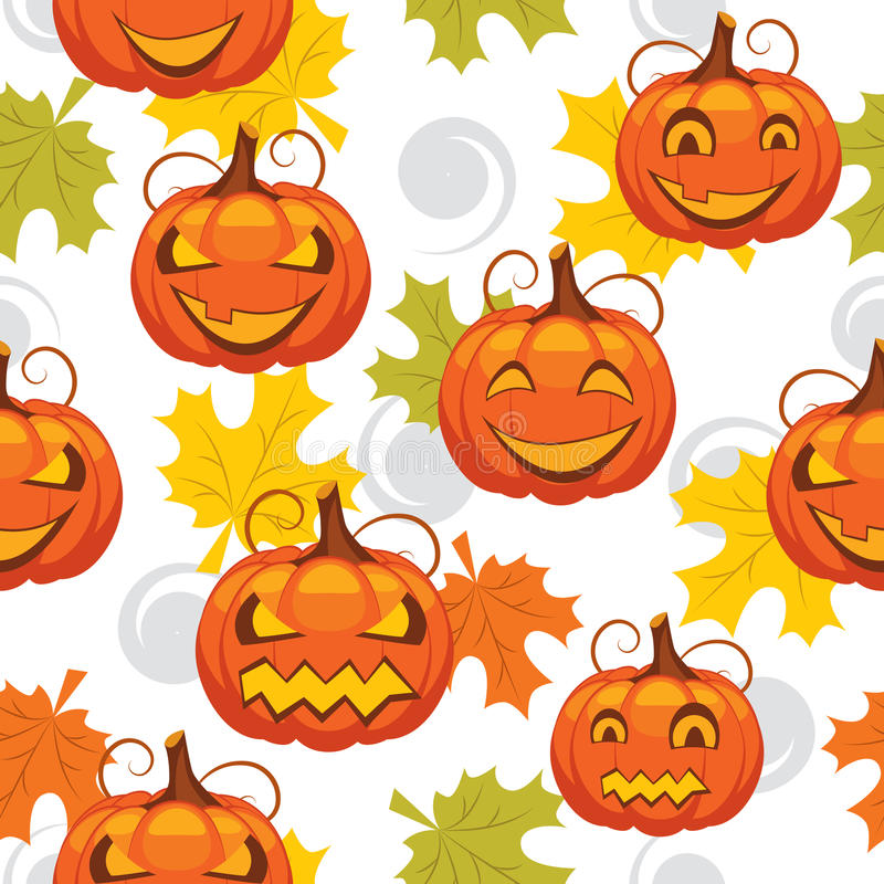 Download Seamless Pattern Of Halloween Stock Vector - Illustration of pumpkin, autumn: 25741004