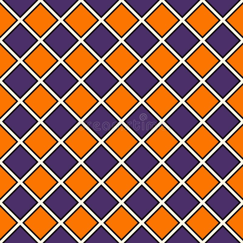 Download Seamless Pattern In Halloween Traditional Colors Repeated Diamonds Background Checkerboard Wallpaper Stock