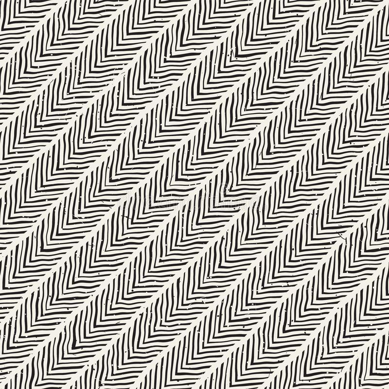 Seamless pattern with hand drawn brush strokes. Ink doodle grunge illustration. Geometric vector pattern. stock images