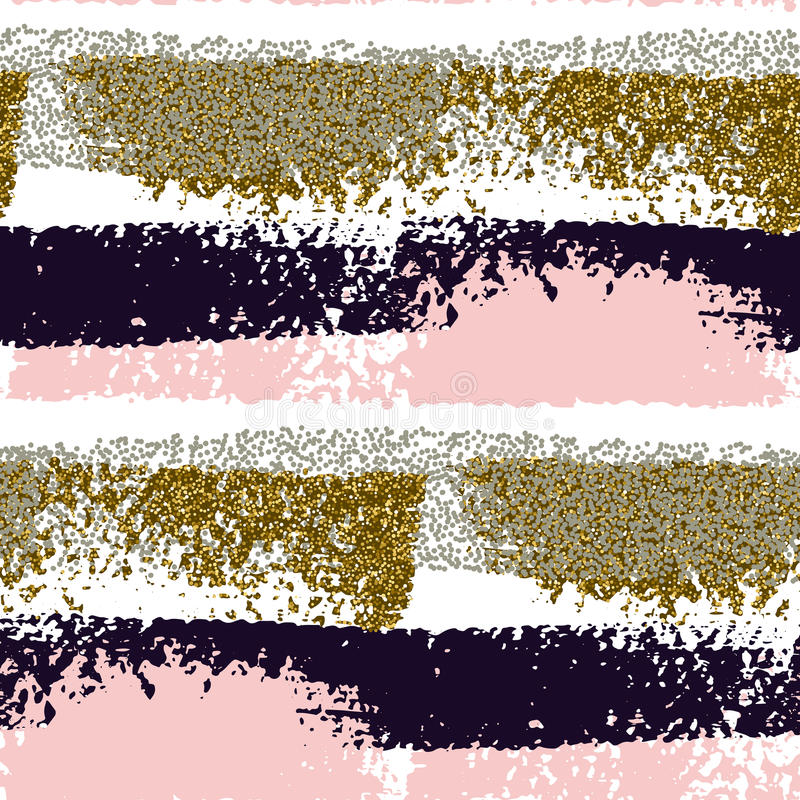 Seamless pattern with hand drawn brush strokes vector illustration