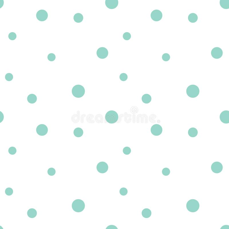 Seamless pattern of hand-drawn dots. Summer Scandinavian Polka Dot Vector Image for children, print, background, typography, royalty free illustration