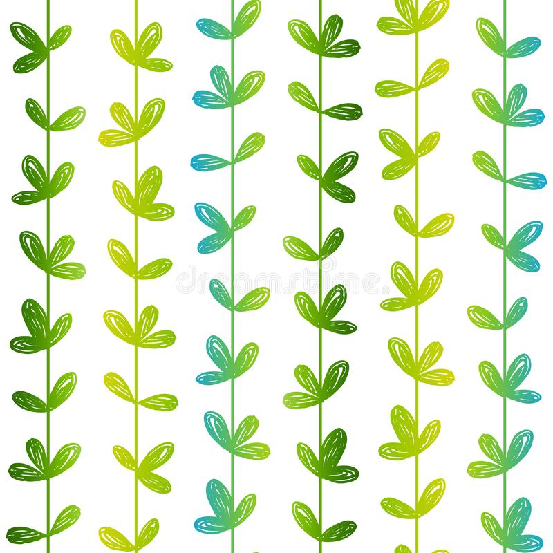Seamless pattern with hand drawn herbs. Seamless pattern with hand drawn herbal silhouettes royalty free illustration
