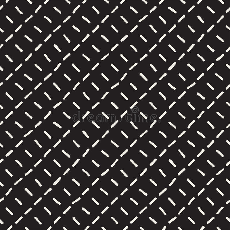 Seamless pattern with hand drawn lines. Abstract background with freehand brush strokes. Black and white texture. Seamless pattern with hand drawn lines vector illustration