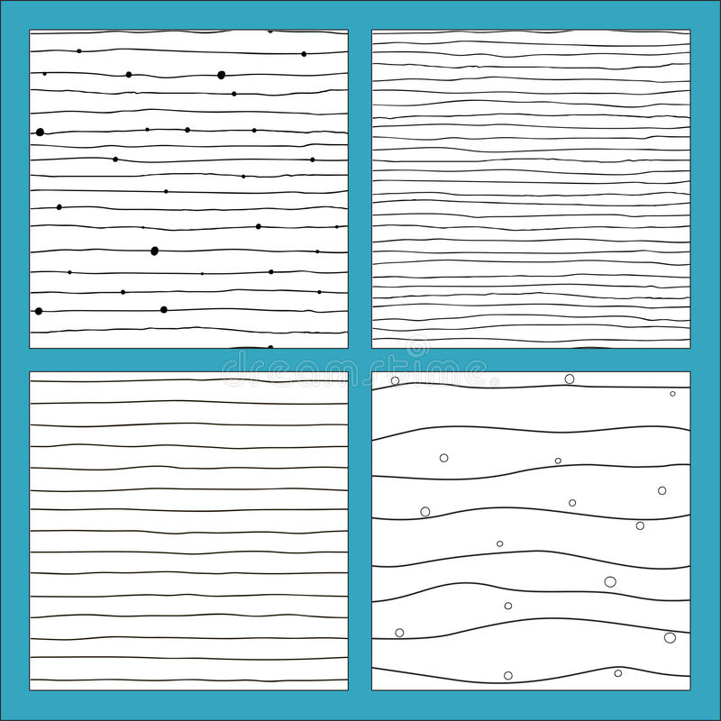 Seamless pattern with hand drawn lines. stock illustration