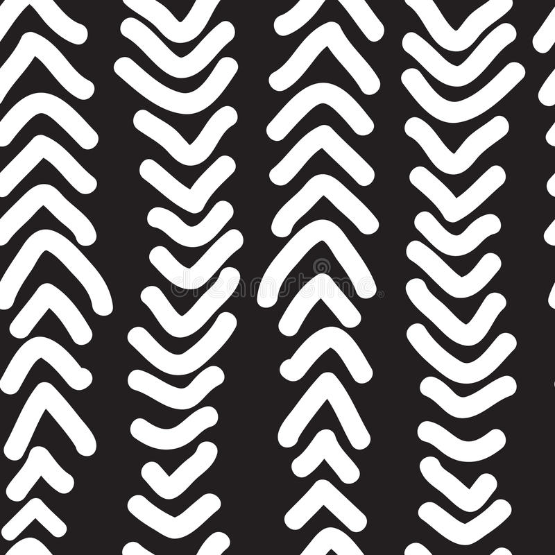 Seamless pattern with hand drawn vertical doodles line. Vector royalty free illustration